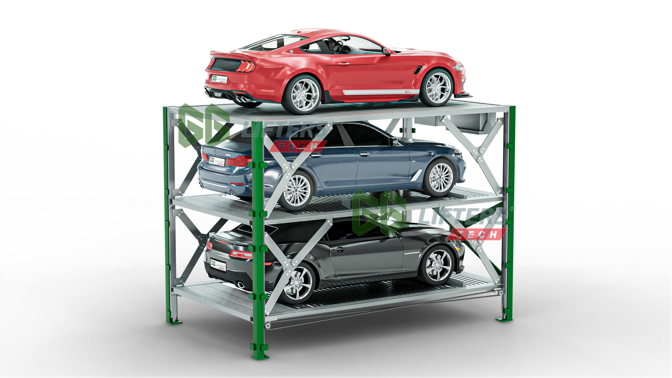 Underground car parking lift system in America